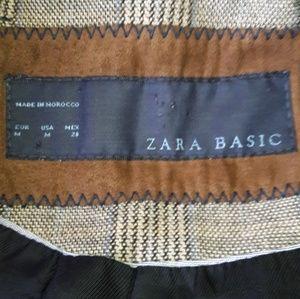 Zara Jackets & Coats - ZARA Basic Plaid Equestrian Riding Jacket Coat